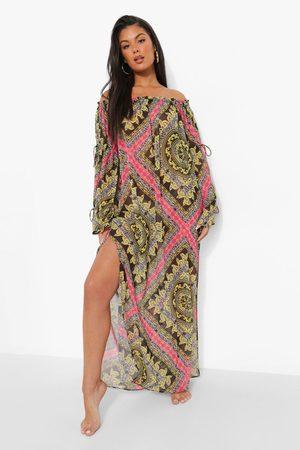 Boohoo Womens Zebra Beach Dress - - S
