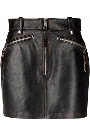 Diesel Leather mini skirt