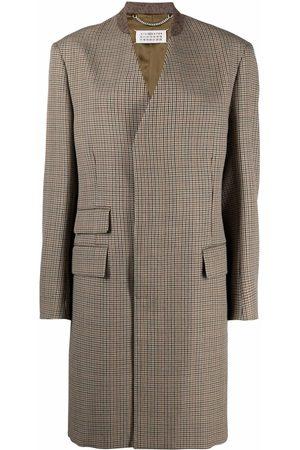 Maison Margiela Women Trench Coats - Checked mid-length coat