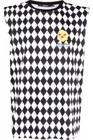 Karl Lagerfeld X Kenneth Ize diamond-print top