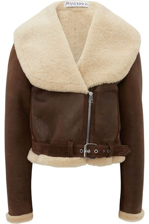 J.W.Anderson Shearling-collar leather jacket