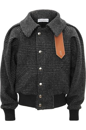 JW Anderson Men Bomber Jackets - RUCHED SLEEVE BOMBER