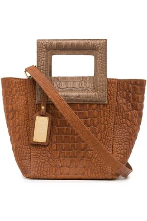 Sandra J Siya crocodile-effect bag