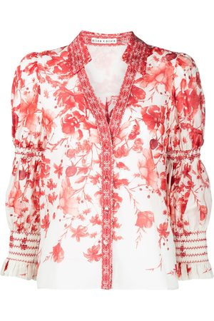 ALICE+OLIVIA Floral-print long-sleeved shirt