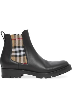 Burberry Women Chelsea Boots - Chelsea check-panel boots