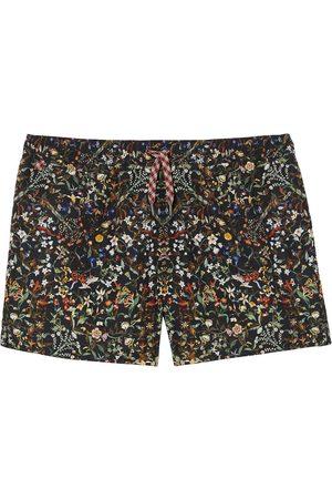 Burberry Men Swim Shorts - Floral-print swim shorts