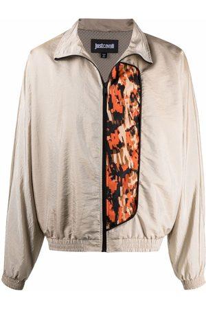 Just Cavalli Men Bomber Jackets - Contrasting-panel jacket - Neutrals