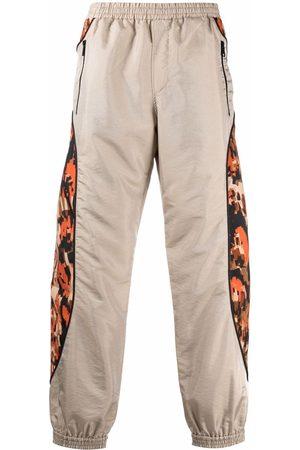 Roberto Cavalli Contrasting-panel trousers - Neutrals