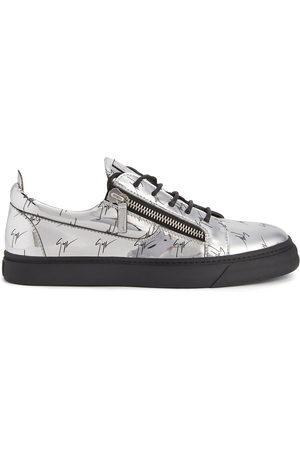 Giuseppe Zanotti Men Sneakers - Frankie signature logo-print sneakers - Grey