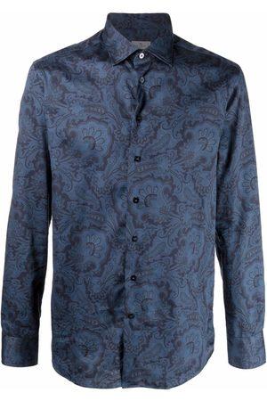 Etro Men Shirts - Motif-print cotton shirt