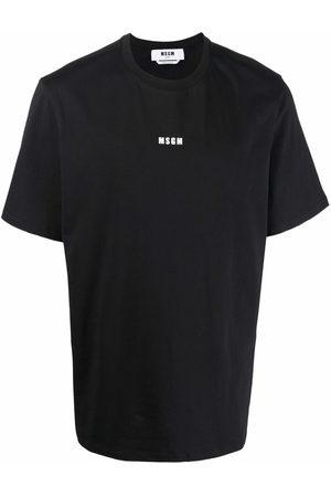 MSGM Men T-shirts - Logo-print cotton T-shirt