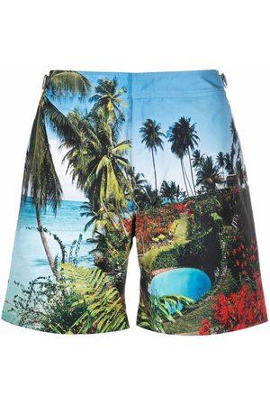 Orlebar Brown Men Swim Shorts - Tropical-print swimming trunks