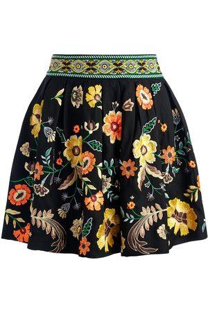 ALICE+OLIVIA Women Mini Skirts - Fizer floral embroidered mini skirt