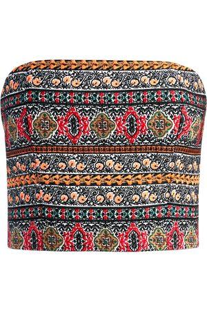 ALICE+OLIVIA Ceresi embroidered bandeau top