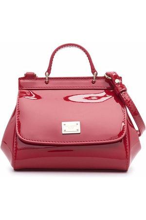 Dolce & Gabbana Girls Bags - Patent-leather crossbody bag