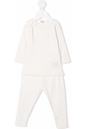 BONPOINT Polka-dot print cotton pajamas set - Neutrals
