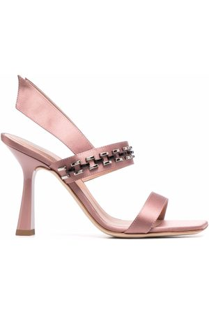 Alberta Ferretti Women Sandals - Beaded slingback sandals