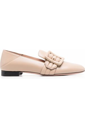 Bally Women Loafers - Janelle buckled leather loafers - Neutrals