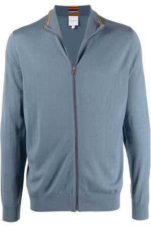 Paul Smith Men Turtlenecks - High-neck zipped merino jumper