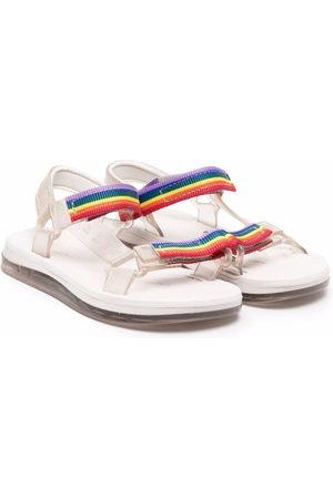 Mini Melissa Boys Sandals - Papete + Rider I striped sandals