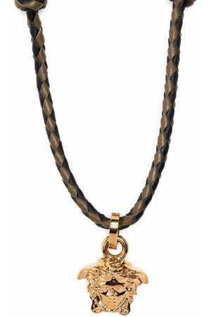 VERSACE Women Necklaces - Medusa head pendant braided necklace