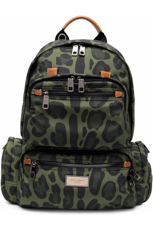 Dolce & Gabbana Men Rucksacks - Leopard-print backpack
