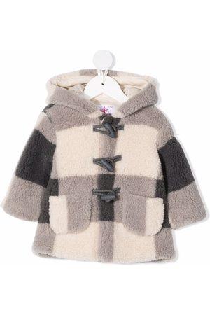 Il gufo Duffle Coat - Checked duffle coat - Grey
