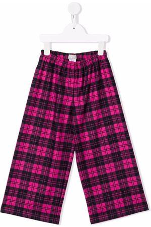 Il gufo Checked wide-leg trousers