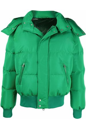 Alexander McQueen Men Puffer Jackets - Padded hooded jacket