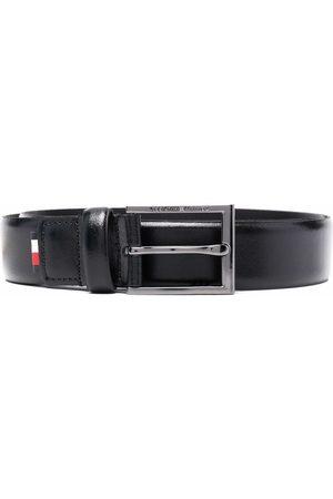 Tommy Hilfiger Men Belts - Logo-patch leather belt
