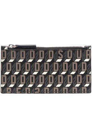 Dsquared2 Women Wallets - Monogram-print zipped wallet
