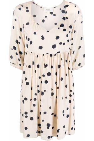 Bash Women Printed Dresses - Dalia polka-dot print dress - Neutrals