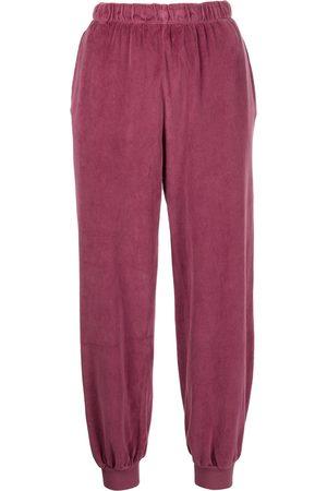 Suzie Kondi Velvet elasticated track-pants