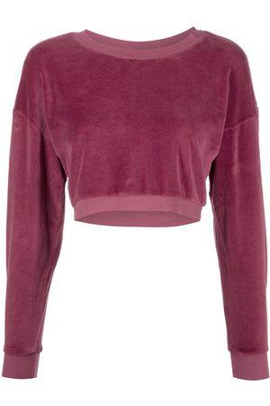 Suzie Kondi Cropped velvet sweatshirt