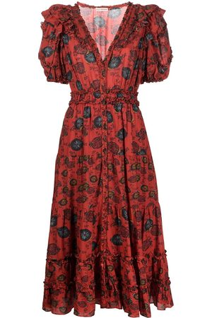 Ulla Johnson Floral-print puff-sleeve dress