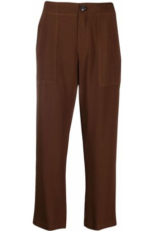 SEMICOUTURE Women Straight Leg Pants - Cropped straight-leg trousers