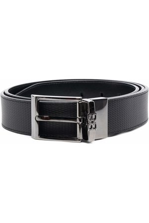Bally Men Belts - Logo detail textured belt
