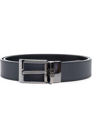Bally Logo detail textured belt