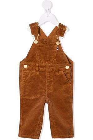 Molo Sky velour adjustable-strap dungarees