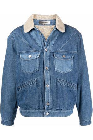 Isabel Marant Men Denim Jackets - Contrast-collar denim jacket