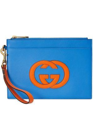 Gucci Interlocking G logo-plaque zip pouch