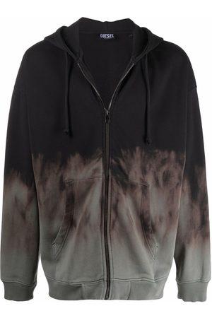 Diesel Men Hoodies - Tie-dye print hoodie