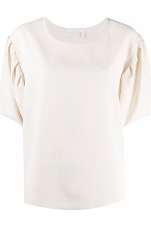 See by Chloé Women Short Sleeve - Puff-sleeve round-neck T-shirt