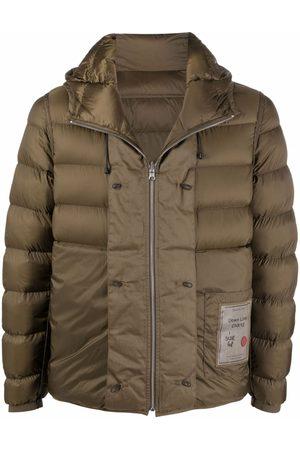 Ten C Men Puffer Jackets - Logo-patch puffer jacket