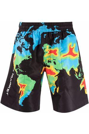 Chinatown Market Men Bermudas - Global Arc bermuda shorts