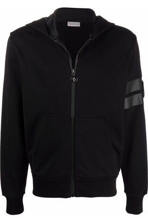 Moncler Men Hoodies - Logo-patch zipped hoodie