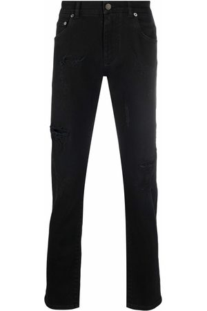 Dolce & Gabbana Men Slim - Mid-rise straight-leg jeans