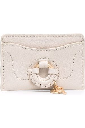 See by Chloé Viola topstitched cardholder - Neutrals