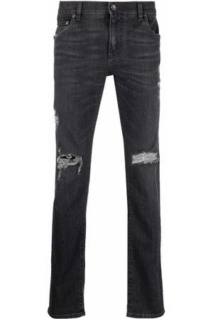 Dolce & Gabbana Men Slim - Distressed slim-cut jeans - S9001
