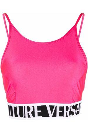 VERSACE Women Camisoles - Logo-underband top
